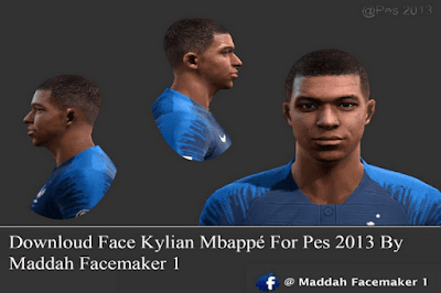 PES 2013 Faces Kylian Mbappe (France NT, PSG) 2018/2019