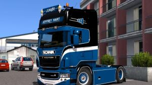 """Jeffrey Hart Transport"" Skin for Scania RJL"