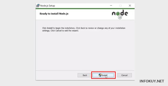 Cara Install Node.js di Window #8