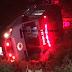 Ambulância do Samu capota e mata enfermeiro e paciente na BR 230 sentido João Pessoa-Campina Grande, na madrugada desta terça-feira