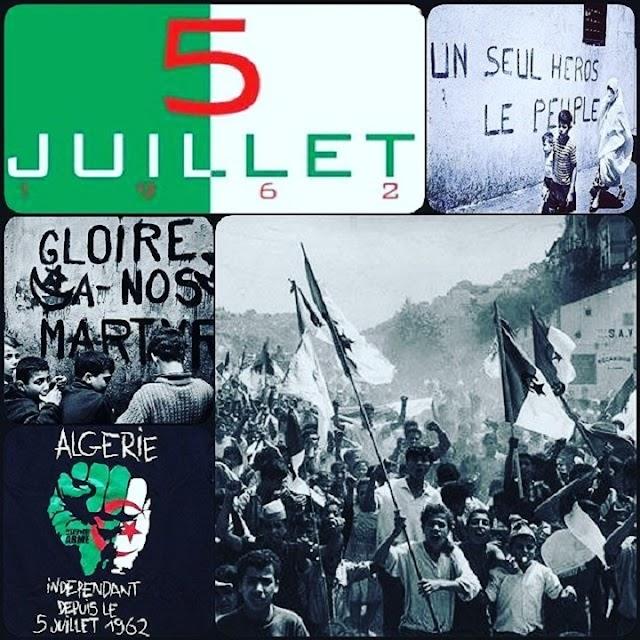 LE 5 JUILLET 1962 .. L'ALGERIE EST INDÉPENDANTE