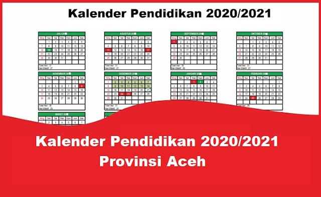 Kalender Pendidikan 2020/2021 Provinsi Aceh