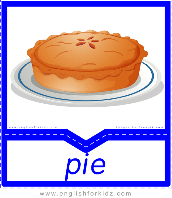 Pie - English food flashcards for ESL students
