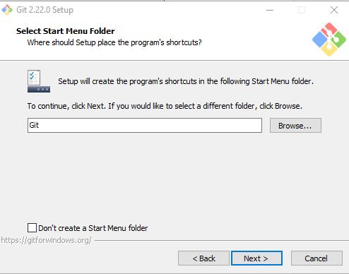 start menu folder