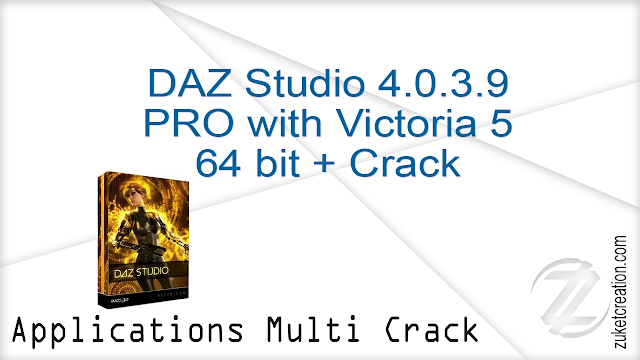 DAZ Studio 4.0.3.9 PRO with Victoria 5 64 bit + Crack