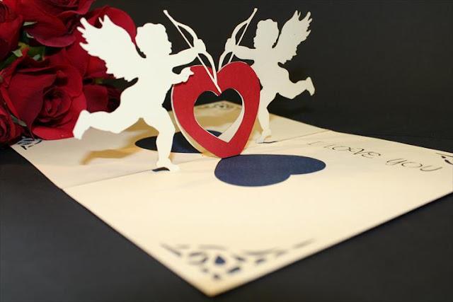 Belle carte d'amour pour la Saint-Valentin