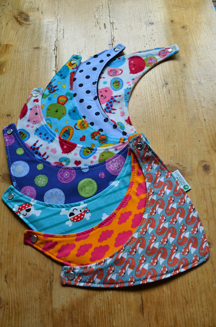LAVERDE Baby-Halstücher mit Druckknopf