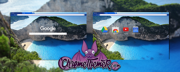 Greek Beach Google Theme  | Chrome Web Store