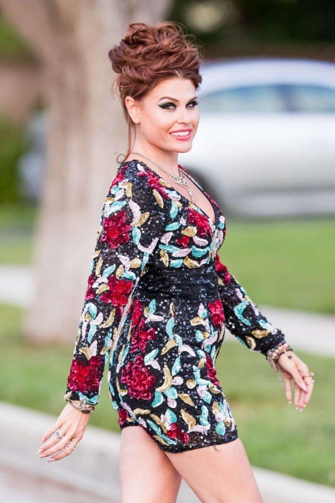 Ali Levine in Tight Short Dress