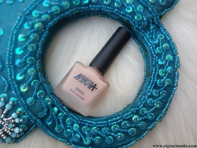Nykaa Matte Nail Paint Pink Meringue (Shade no: 28) Review