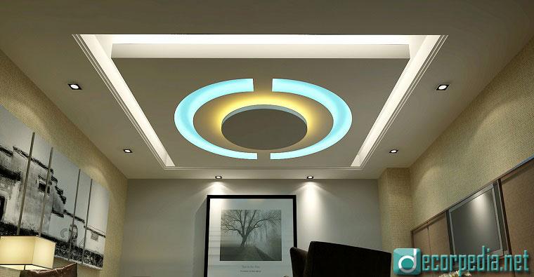 Latest False Ceiling Design, Modern False Ceiling For Living Roomwith Led  Lights