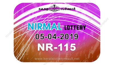 KeralaLotteryResult.net, kerala lottery kl result, yesterday lottery results, lotteries results, keralalotteries, kerala lottery, keralalotteryresult, kerala lottery result, kerala lottery result live, kerala lottery today, kerala lottery result today, kerala lottery results today, today kerala lottery result, Nirmal lottery results, kerala lottery result today Nirmal, Nirmal lottery result, kerala lottery result Nirmal today, kerala lottery Nirmal today result, Nirmal kerala lottery result, live Nirmal lottery NR-115, kerala lottery result 05.04.2019 Nirmal NR 115 05 april 2019 result, 05 04 2019, kerala lottery result 05-04-2019, Nirmal lottery NR 115 results 05-04-2019, 05/04/2019 kerala lottery today result Nirmal, 05/4/2019 Nirmal lottery NR-115, Nirmal 05.04.2019, 05.04.2019 lottery results, kerala lottery result April 05 2019, kerala lottery results 05th April 2019, 05.04.2019 week NR-115 lottery result, 5.4.2019 Nirmal NR-115 Lottery Result, 05-04-2019 kerala lottery results, 05-04-2019 kerala state lottery result, 05-04-2019 NR-115, Kerala Nirmal Lottery Result 5/4/2019
