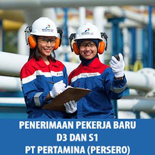 Lowongan Kerja Fresh Graduate D3 dan S1 PT Pertamina (Persero) 2017