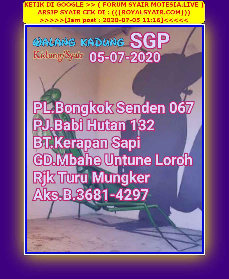 Kode syair Singapore Minggu 5 Juli 2020 42