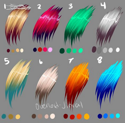 Hair Color Drawing Reference (Hairstyle Updates - www.hairstyleupdates.com)