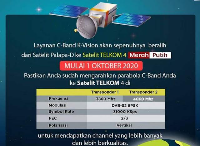 K vision Pindah Ke Satelit Telkom 4