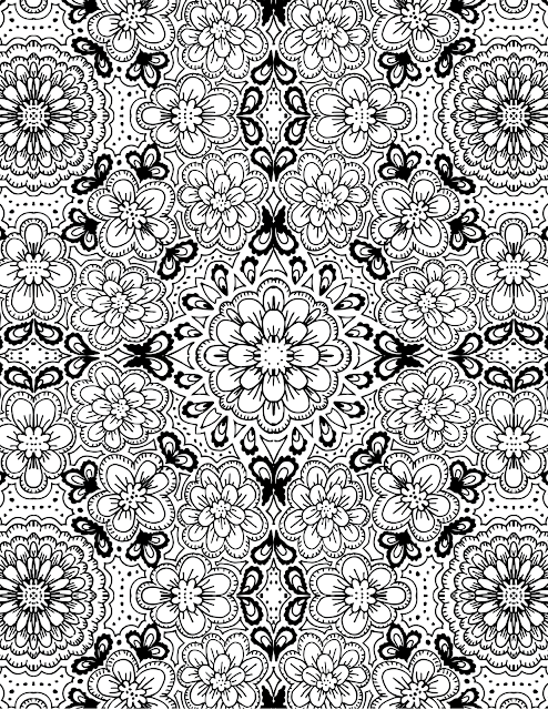 floral-print, floral-print-coloring-page
