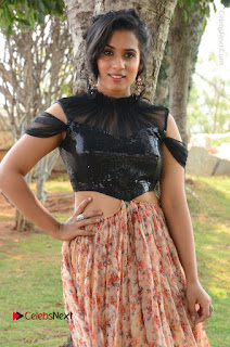 Actress Chetana Uttej Stills in Floral Long Skirt at Pichiga Nachav Movie Press Meet  0002.JPG