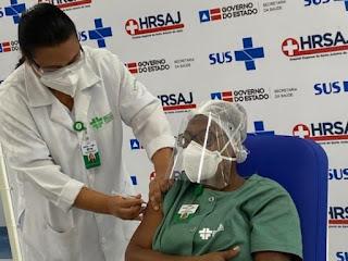 Bahia ultrapassa 75 mil vacinados contra a Covid-19