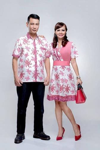 Model Baju Batik Couple Kombinasi