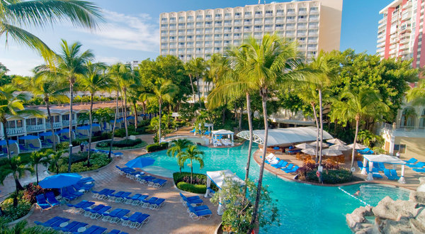 Overlooking palm-fringed Isla Verde beach and the azure Atlantic, the InterContinental San Juan hotel in Puerto Rico is moments from the resort's renowned bars and nightlife.