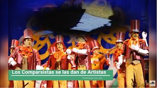 """Presentación con Letra """"Los Comparsistas se la dan de artistas"""" de Jc Aragon Becerra (2009)"""