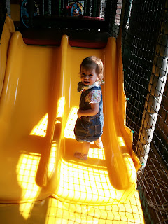 walking on slide