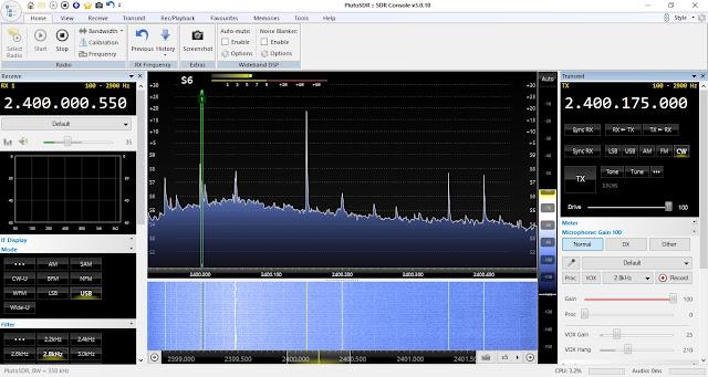 SDR-console screenshot