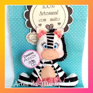 zebra de feltro