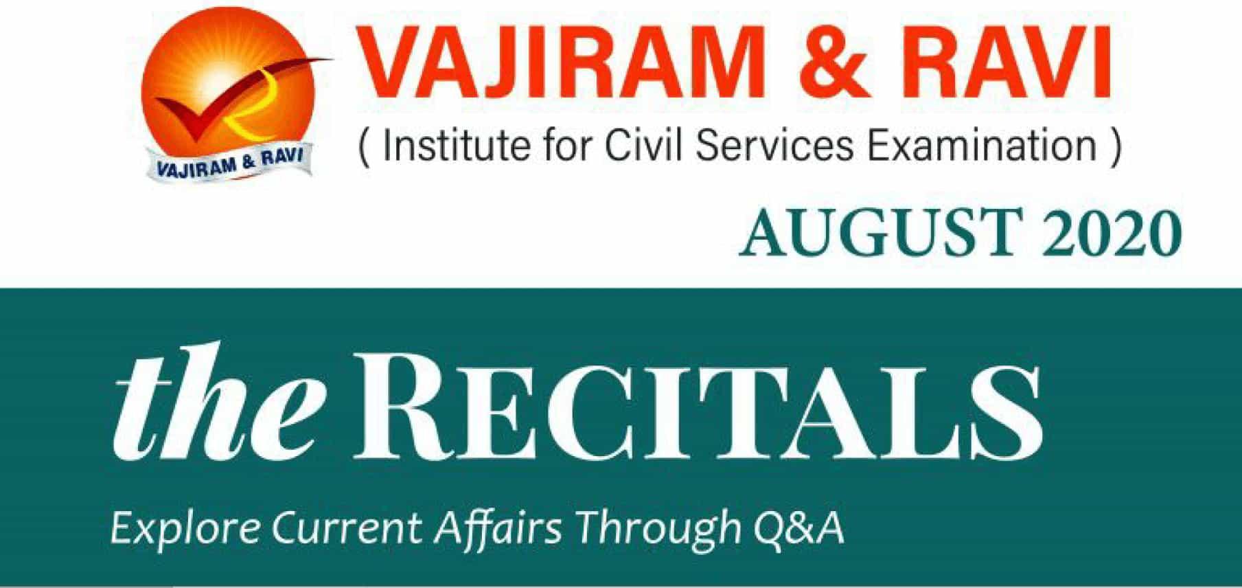 Vajiram Current Affairs August 2020