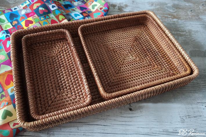 Handmade Rattan Tray Set from Frisson Home