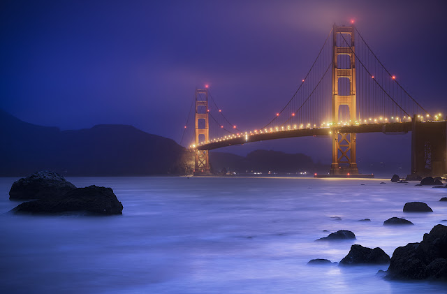 2 blended exposures using Luminosity Masks and one long exposure