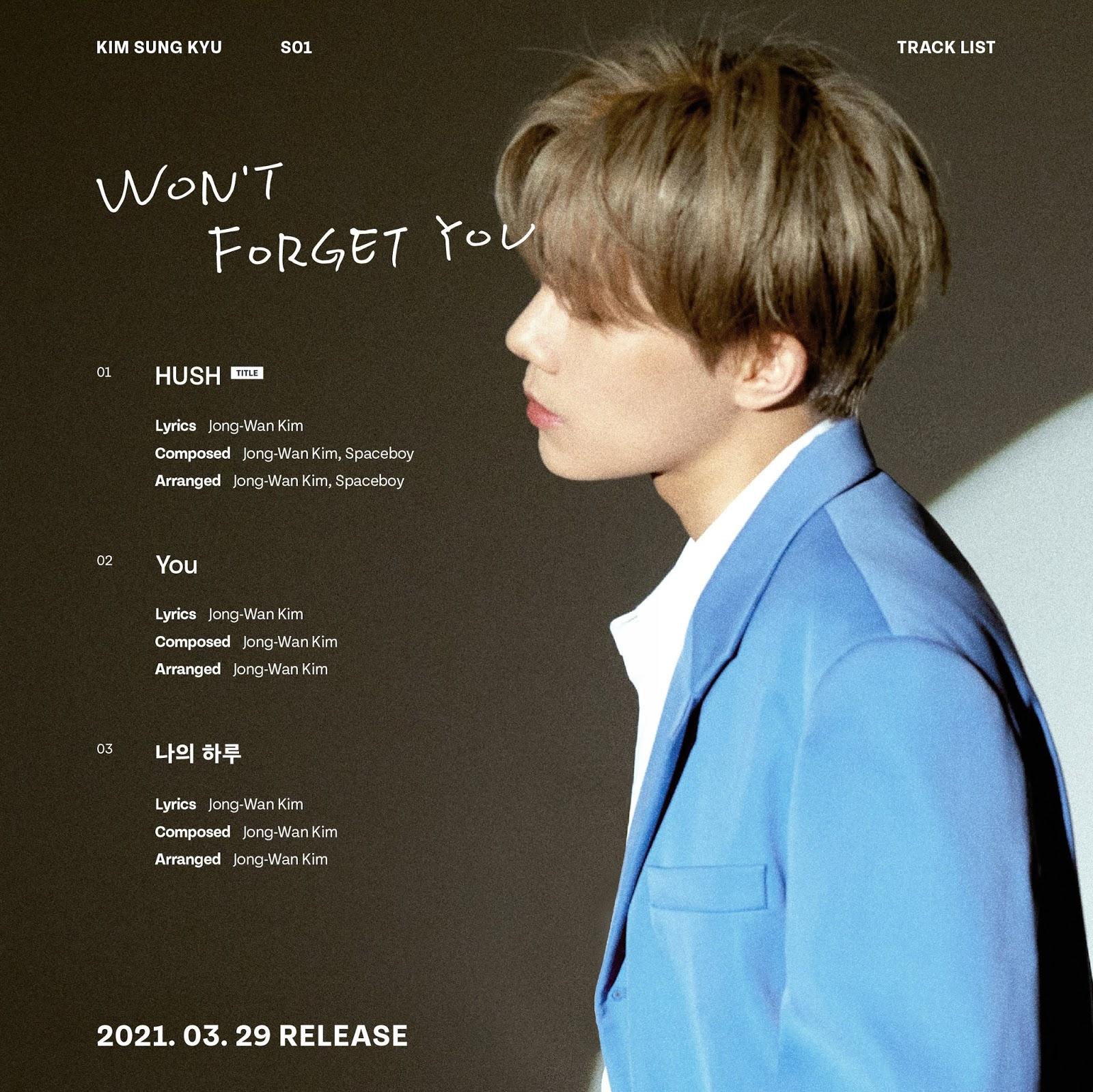 sungkyu wont forget you tracklist