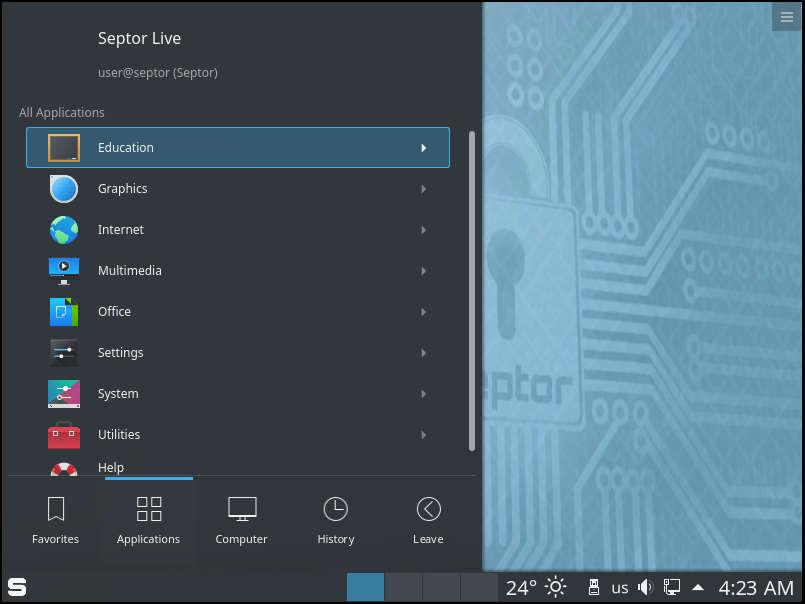 Tải Septor Linux 2019 , Hệ điều hành giúp bạn ẩn danh trên Internet và xử lý công việc.