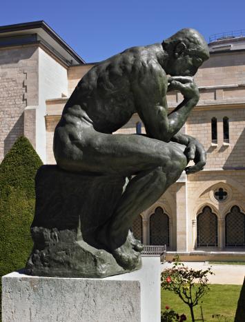 Il pensatore Rodin Arte Cacaista