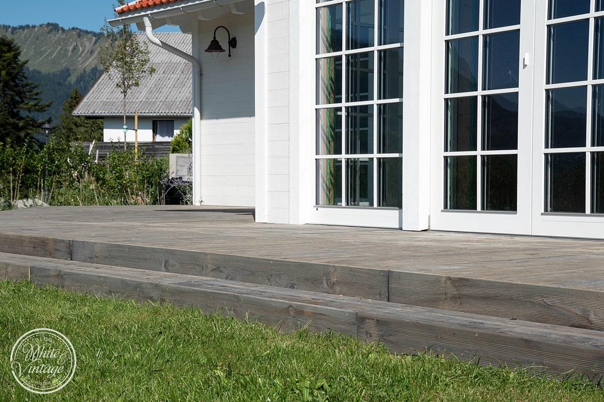 Robuste und kostengünstige Holzterrasse selber machen.