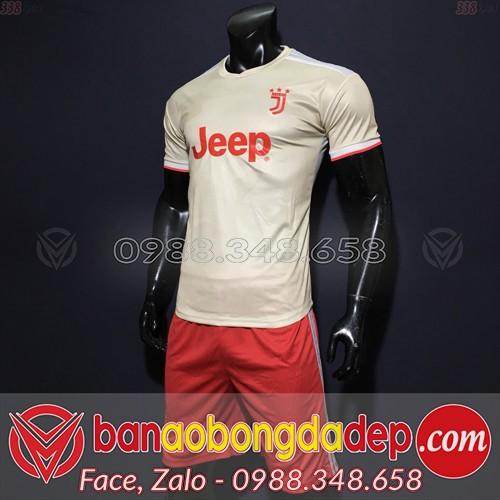 Áo Juventus Trắng Đỏ 2020 Sân Khách