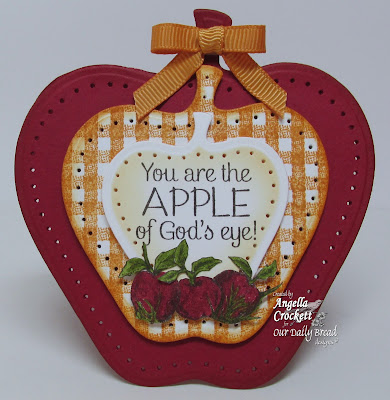 "ODBD ""Apples"" and ""Gingham Background"" Card Designer Angie Crockett"