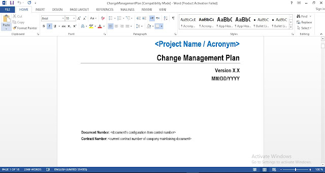 Change Management Plan Template - ENGINEERING MANAGEMENT