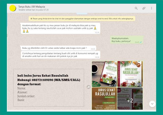 Kirim Buku Jurus Sehat Rasulullah Terbaru ke Subang Jaya Petaling Jaya Malaysia