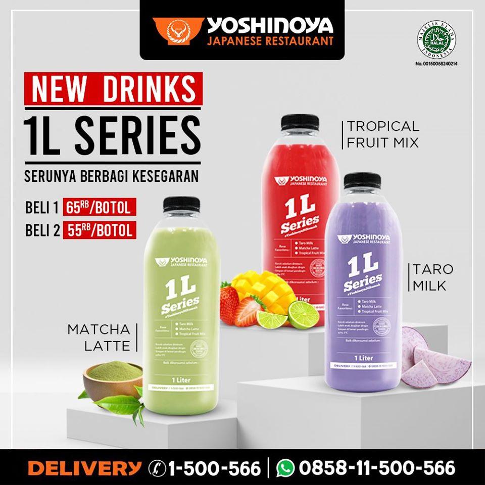 Promo Yoshinoya 1L Series Paket Menu Minuman Baru