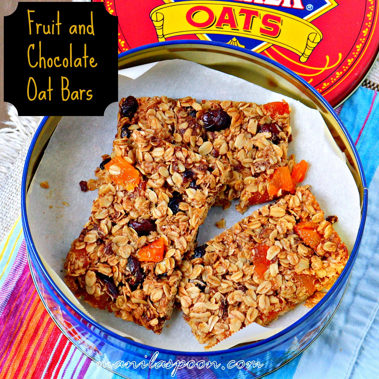 Fruit and Chocolate Oat Bars