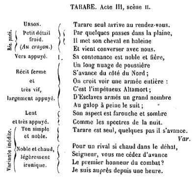 Collaboration de Beaumarchais et Salieri sur la mise en musique de Tarare