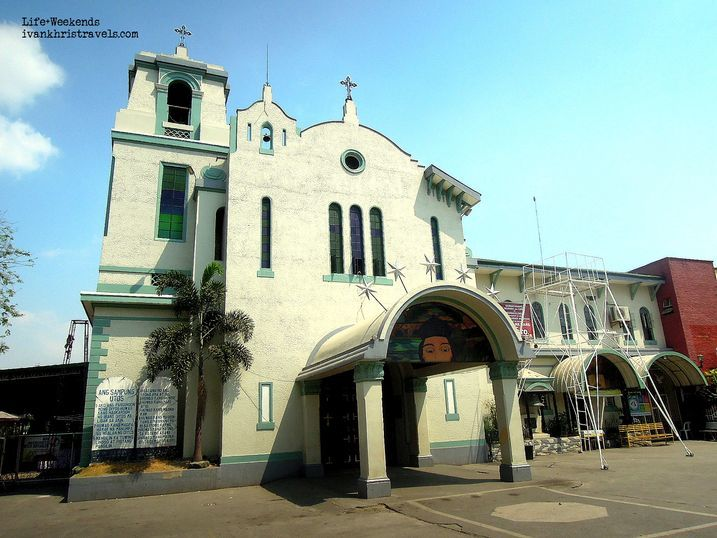 Facade of St. John Nepomucene Parish Church in Cabiao, Nueva Ecija