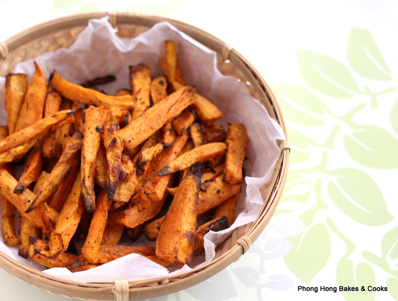 Phong Hong Bakes and Cooks!: Oven Baked Sweet Potato Fries