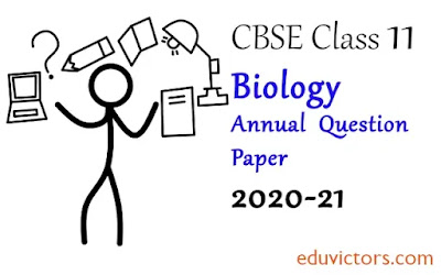 Class 11 Biology Annual Sample Question Paper  2020-21 (#class11Biology)(#eduvictors)(#cbsepapers)