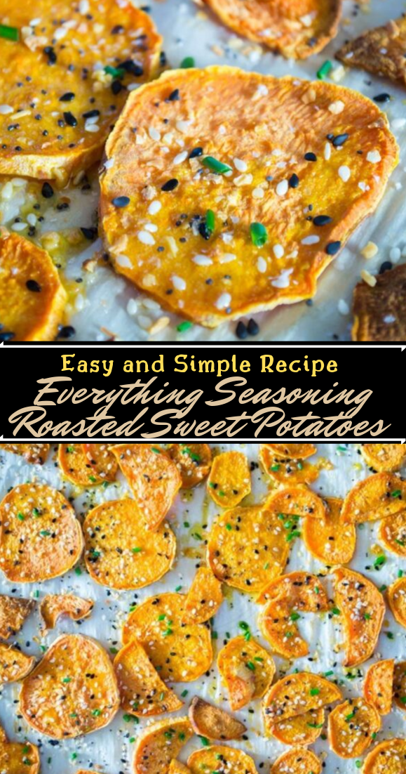Everything Seasoning Roasted Sweet Potatoes #healthyfood #dietketo #breakfast #food