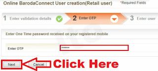 Bank of Baroda online net banking