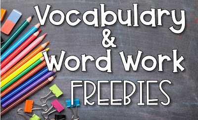 Vocabulary and Word Work Ideas and Freebies- inspiredowlscorner.com