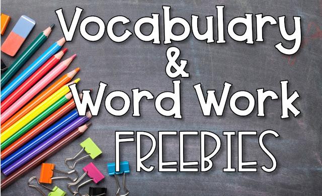 Vocabulary and Word Work Ideas and Freebies- inspiredowlscorner.com